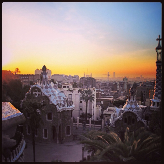 Sunrise over Parc Güell